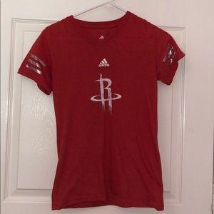 Red Houston Rockets Tee Shirt
